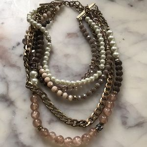 Gold blush multi strand necklace sparkling ✨